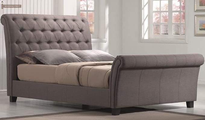 Buy Brendan Upholstered Bed (Grey, Queen Size) online in India at best prices from Wooden Street. Shop for wide range of stylish bedroom furniture online with great discount and decorate your home. Visit : https://www.woodenstreet.com/bedroom-furniture