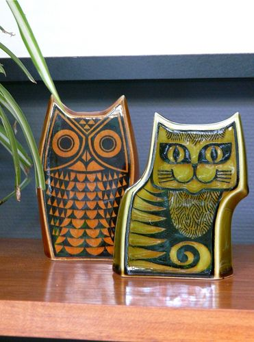 Hornsea pottery , Cat & Owl salt & pepper shakers.