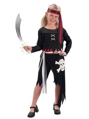Sort pirattøj til piger kr. 125,-
