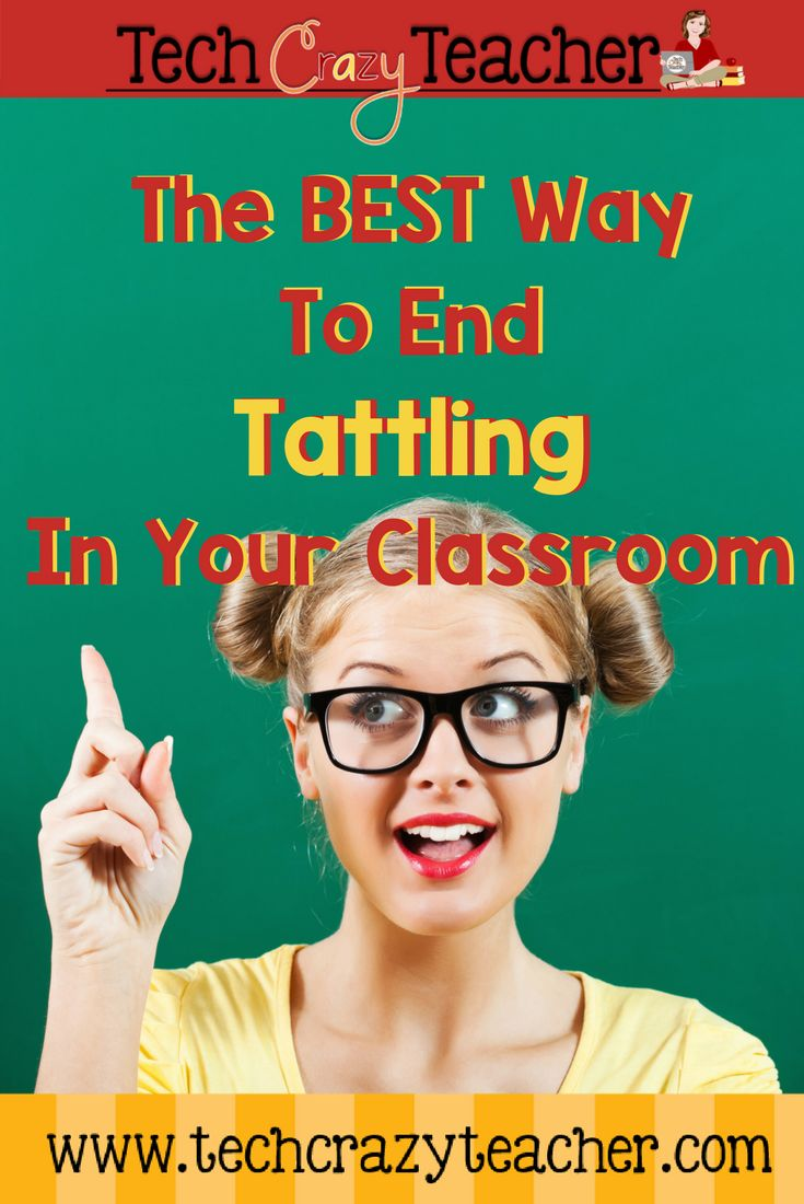 Let's put an end to tattling in your classroom
