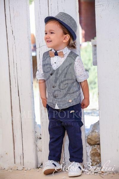 82cdc094add Βαπτιστικά ρούχα για αγόρι της Stova Bambini κομψό μοντέρνο σετ με  πουκάμισο τυπωμένα αστεράκια