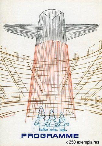 258 RAME DE 250 PROGRAMMES « CROISIÈRE DE NOËL », 4 pages, couverture illustrée par RAYMOND BOUVARD, d'une grande cheminée stylisée du FRANCE, VIERGES près ...