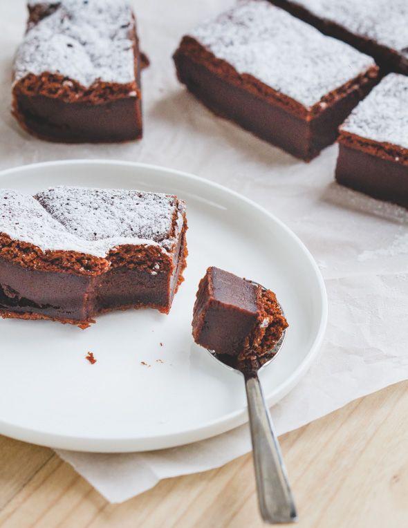 Magic chocolate pie - Magische chocoladecake - www.cookameal.be