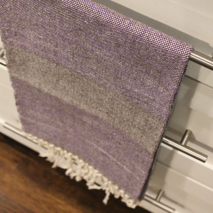 TOA Hand Towel -Grape - Simple handwoven design, perfect for bathrooms or kitchen use - $35.00 - Living Threads Co. www.livingthreadsco.com