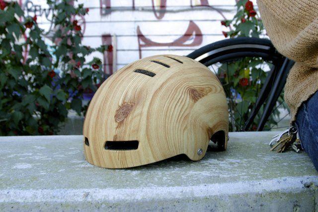 Woodgrain Bicycle Helmet   Mission Bicycle