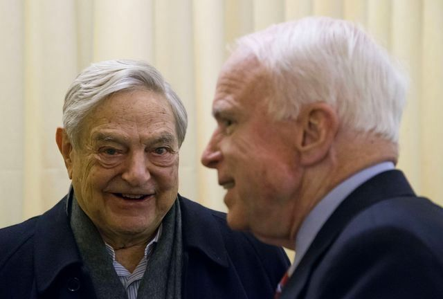 John McCain hanging out with Soros in Switzerland...As RepublicanS in his home state of Arizona were censuring him for supporting far-left policies like amnesty for illegals, John McCain was in Switzerland, reminding them why they were right to do so  TRAITOR! http://toprightnews.com/?p=1002