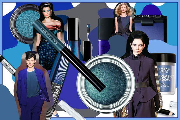 Make up blu: ombretti, eyeliner e smalti nei colori delle profondità marine
