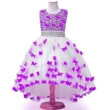 3-12Y девушки одеваются для свадьбы новый стиль Блестками цветы принцесса платья летние девушки Размытие платья(China (Mainland))