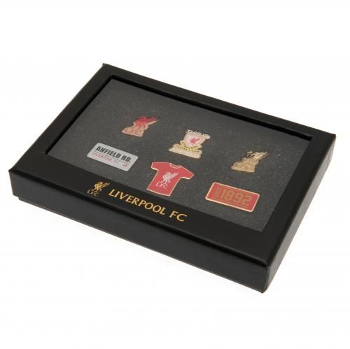 Six metal Liverpool badges featuring the club crest presented in an executive presentation case. FREE DELIVERY on all of our gifts