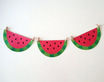 Strawberry and watermelon decorations – Etsy AU
