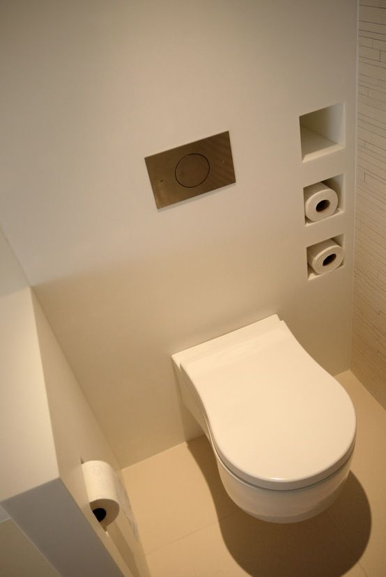 Toilet - solid surface : Moderne Badezimmer von Leonardus interieurarchitect