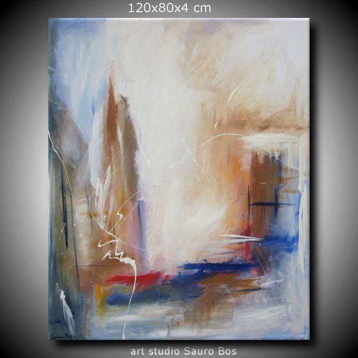 quadro astratto per soggiorno moderno olio su tela 120x80 per info: http://www.saurobos.it/prodotto/quadro-astratto-per-soggiorno-rosso-e-marrone/