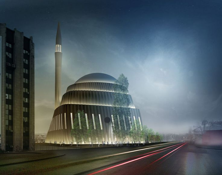 SADAR+VUGA Shares Second in Central Mosque of Pristina Competition