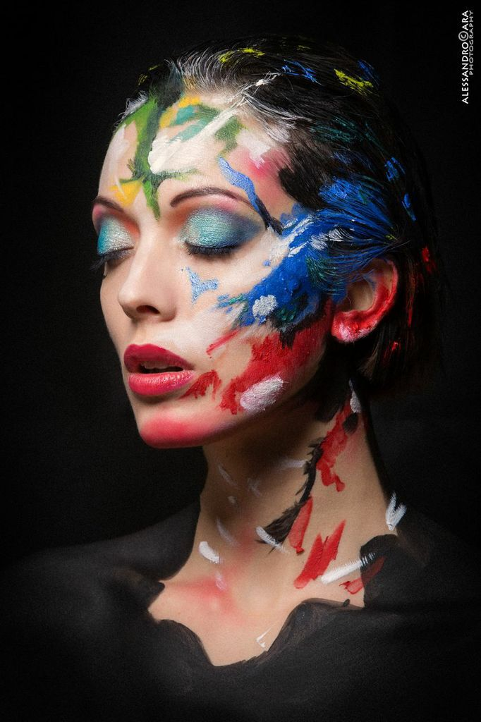 "Make up Inspired by ""Technicolor"" , from great digital artist @albertoseveso"