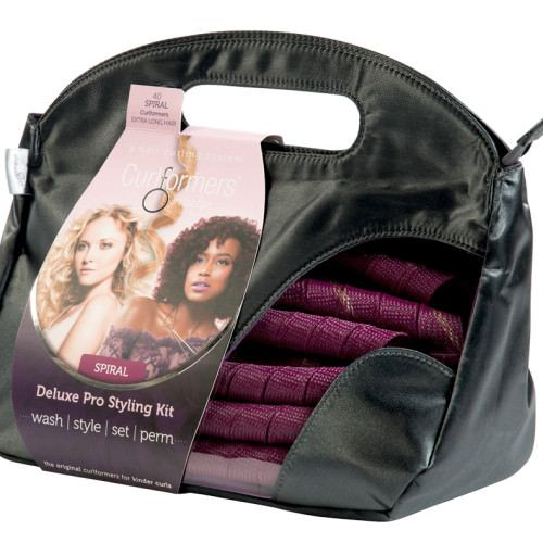 For hair up to 22″ or 55cm long,our Extra Long Spiral Deluxe Styling Kit is all you need to create natural spiral curl hair without using curling irons.