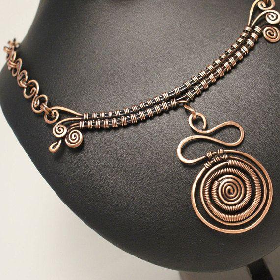 Set di gioielli di rame orecchino rame collana di rame