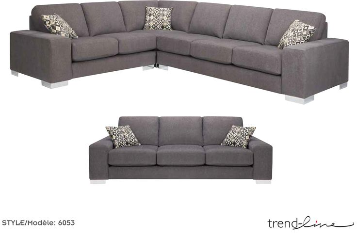 Style 6053 is available in many configurations to create a sectional or as free standing pieces in sofas, love seats and chairs.