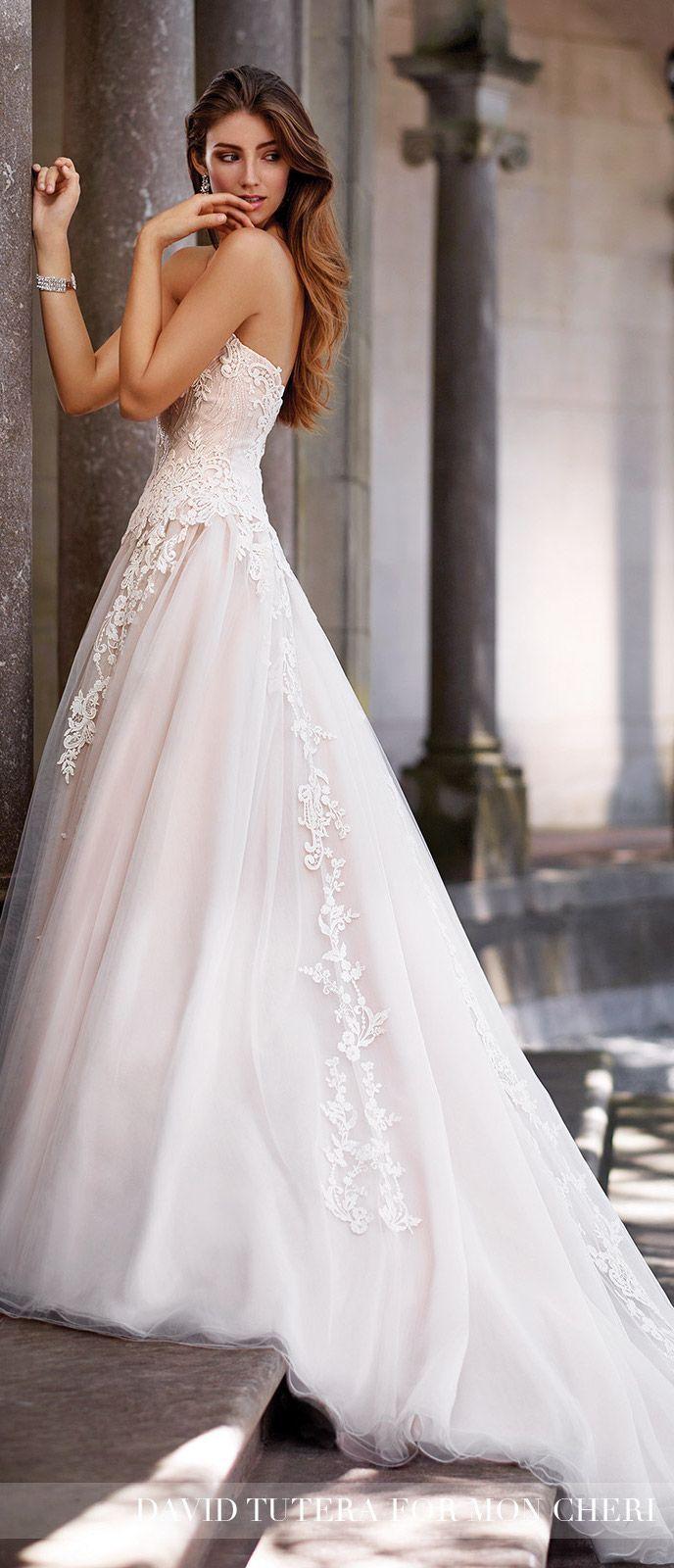Blush wedding dress by david tutera for mon cheri wedding
