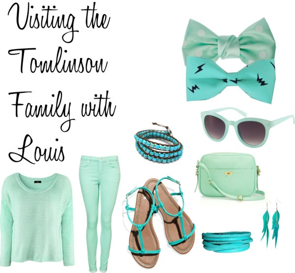 """Visiting the Tomlinson Family with Louis"" by mrs-nicole-horan ❤ liked on Polyvore"