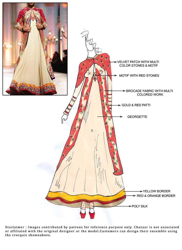 #DIY #Cream Floor Length #Anarkali #Suit