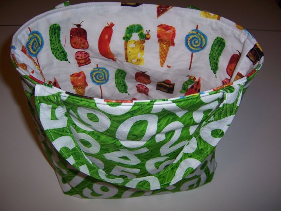 Insulated lunch bag tote hungry caterpillar by jenncandler 24 00
