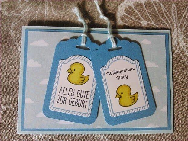 Babykarte und Gutschein-Verpackung f�r Jungen                                                                                                                                                                                 Mehr