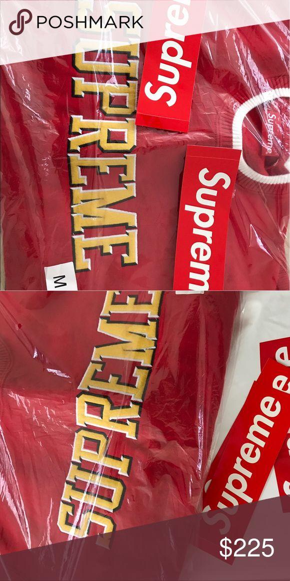 Supreme sweatshirt SS17 supreme sweatshirt color red size M. •Unopened •Free shipping Supreme Sweaters Crewneck