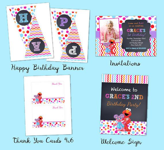 Elmo Sesame Street Birthday Party Package Girl Elmo Birthday