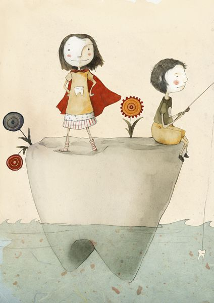 Tooth Illustration by Judith Loske www.judith-loske.de