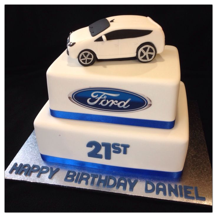 Ford Car Themed 21st Birthday Cake Made By Sweetsbysuzie