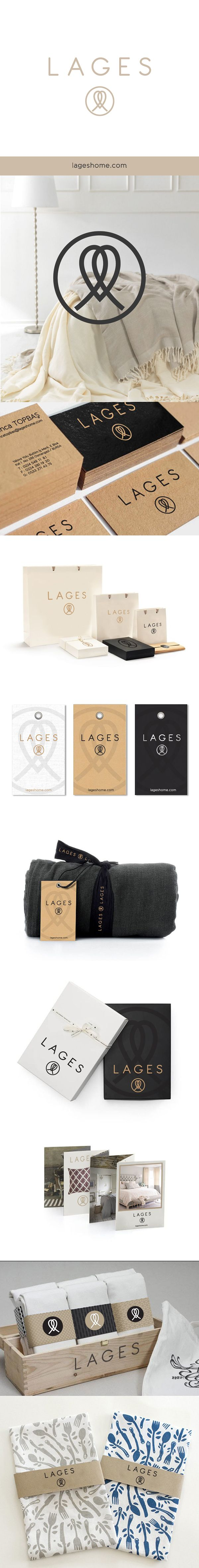 LAGES HOME on Behance by Tuğba Güler. Brand creation process and packaging of home textile products. PD