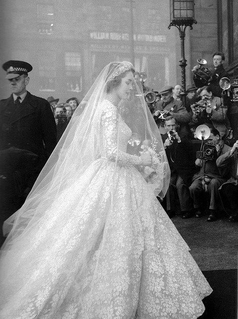 Jane McNeill in s Lady Alice Montagu Weding Gown, 1953