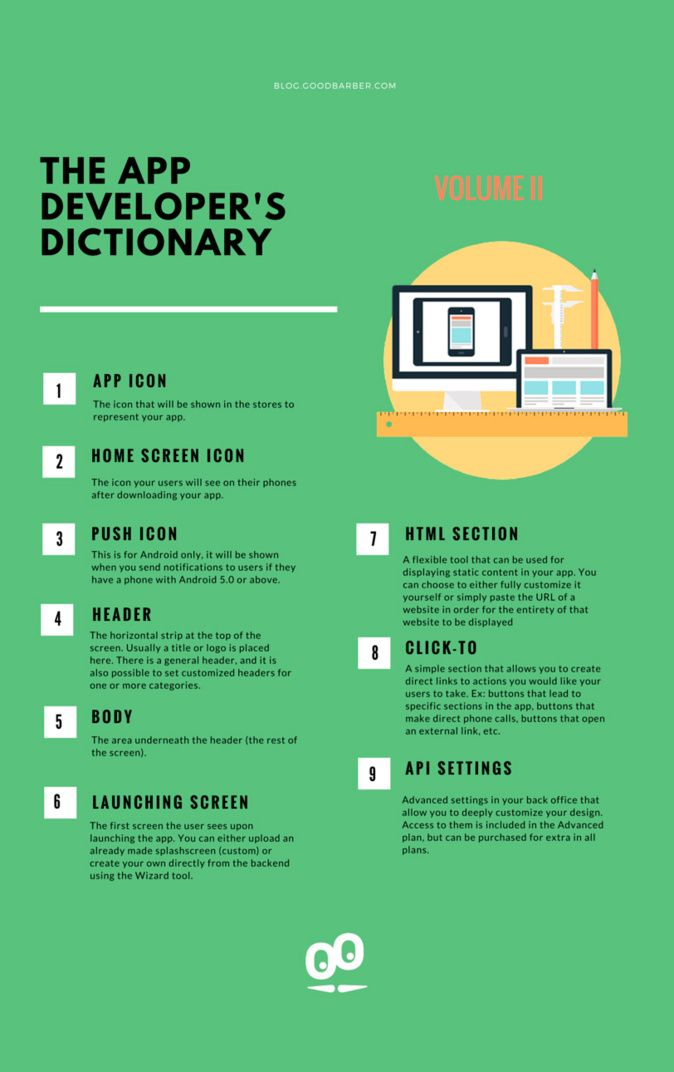 [ Infographic ] 9 mobile dev terms you should know about when creating your app #mobileapp #mobiledev #dictionary #Infographic #iOS #Android