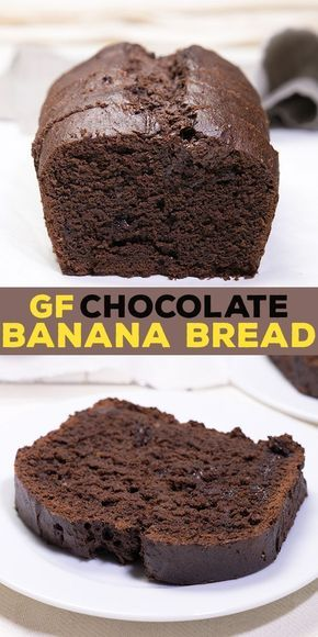 Gluten Free Chocolate Banana Bread with sour cream and cocoa
