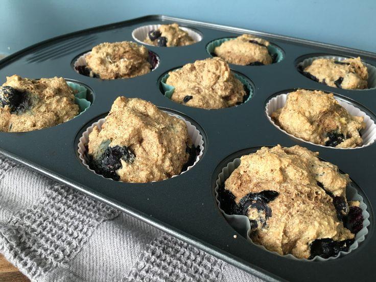 Blueberry & Banana Spelt Muffins