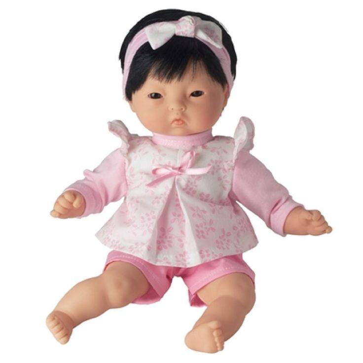 "Corolle DOLL 12"" MON PREMIER CALIN YANG Dark Hair Pink Headband NEW Box France #DollswithClothingAccessories"