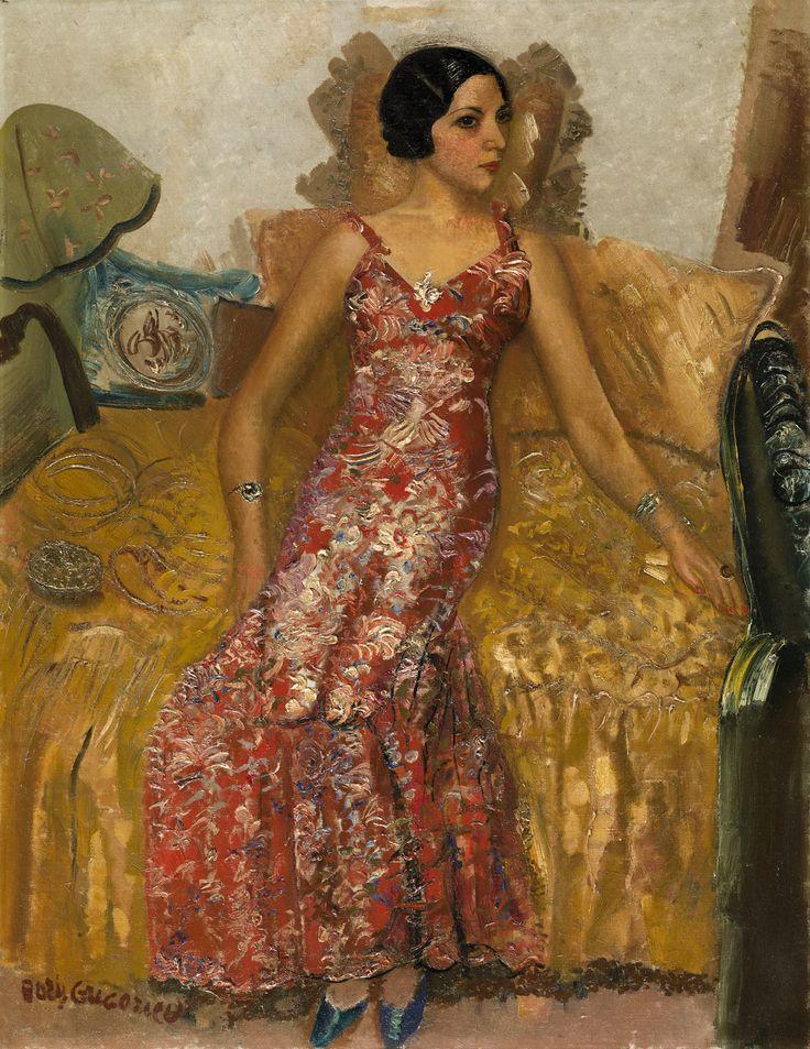 Portrait of Selma Alexander, c. 1933 by Boris Grigoriev (1886, Rybinsk, near Moscow, Russia ~ 1939, Cagnes-sur-Mer, France)