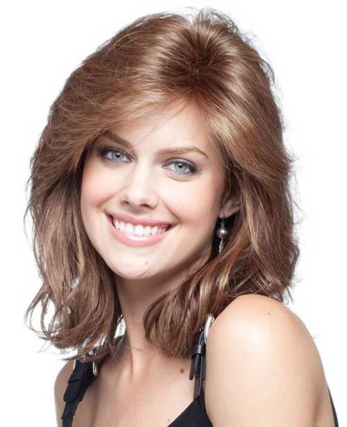 Shoulder Length Haircuts For Thick Wavy Hair Round Face : Best 25 thick medium hair ideas on pinterest medium lengths