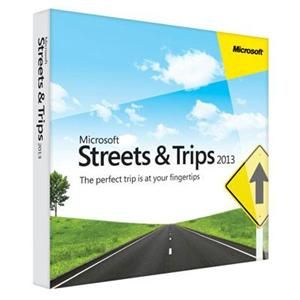 Software Suites : Streets and Trips 2013 Win32 - $39.99 Every trip is a good one with Microsoft Streets & Trips 2013! With tools and features to help you create custom routes, set driving preferences, plan breaks, and calculate travel costs, this trip planning software makes travel easier, whether you're going around town or anywhere across the U.S. and Canada. As the #1 best-selling travel and map software, it gets you where you're going quickly, easily, and without all the guesswork.