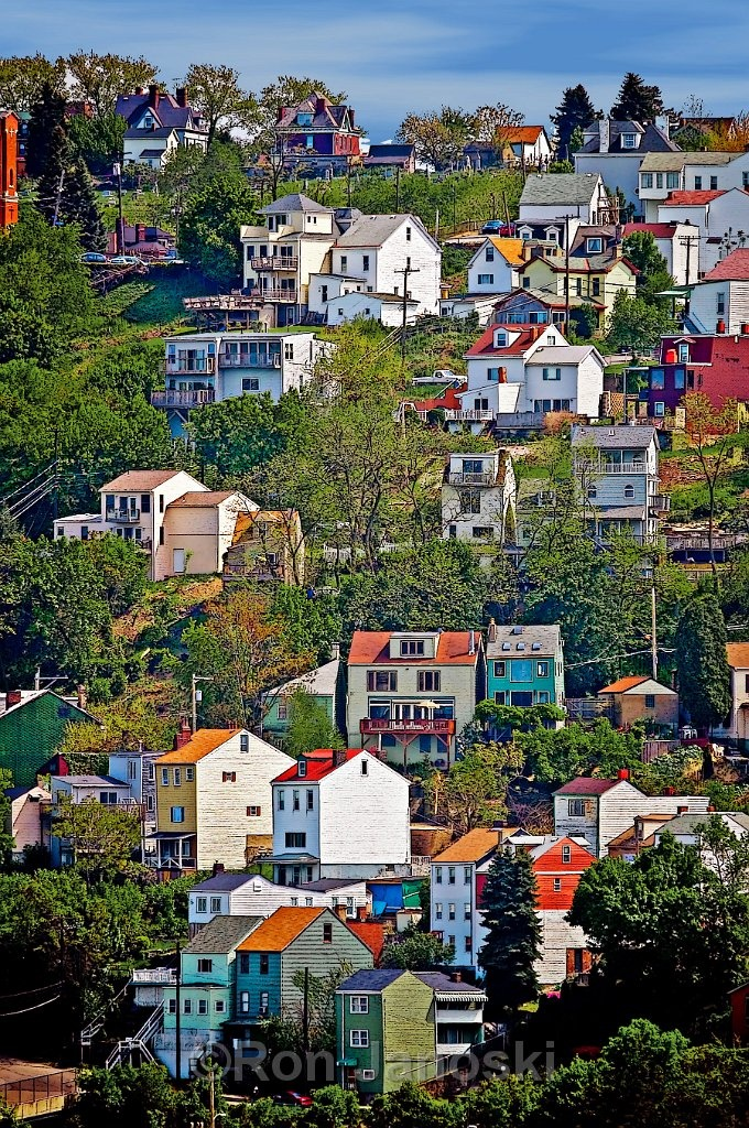 "~ this is known as the ""South Side Slopes~ there's more to the picture than what you're seeing (way more houses, closer together) the slopes are considered PRIME PROPERTY because you get an amazing view of lights of town and the parkway at night....pretty amazing sights!"