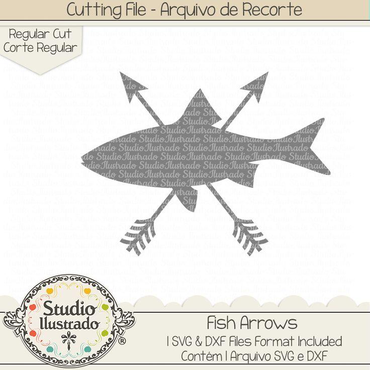 Fish Arrows, Fish, Arrows, fishing, fisherman, peixe, pescaria, pescador, sea, ocean, mar, oceano, setas, flecha, flechas, seta, setas, arrow, arrows, wild, selvagem, arquivo de recorte, corte regular, regular cut, svg, dxf, png, Studio Ilustrado, Silhouette, cutting file, cutting, cricut, scan n cut.