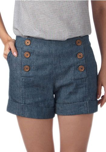 Sailor shorts - can I refashion another pair of shorts to this??? Hmmm