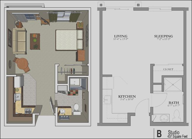 The Studio Apartment Floor Plans Above Is Used Allow The Small Apartment Layout Studio Apartment Floor Plans Small Apartment Floor Plans