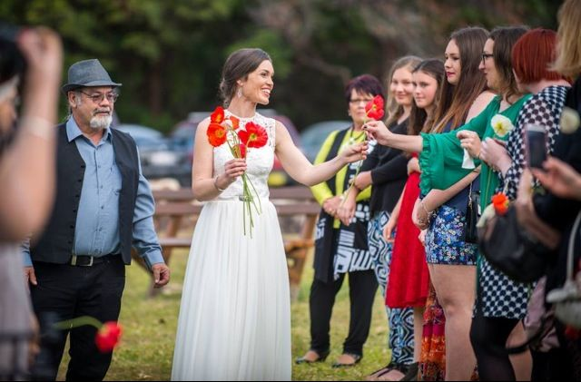 Mel entered Deadman's Reserve on North Stradbroke Island and was handed a poppy from each of the important women in her life. Great shot by Stradbroke Island Photography!