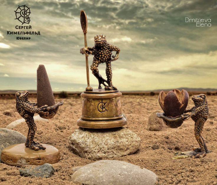 Frog sacrament. Bronze. Author - Sergei Kimel'fel'd Photographer - Elena Dmitrieva