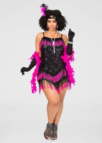 Ombre Plus Size Flapper Costume