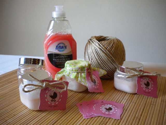 handmade baby shower gifts handscrub recipe do it yourself ideas 6117