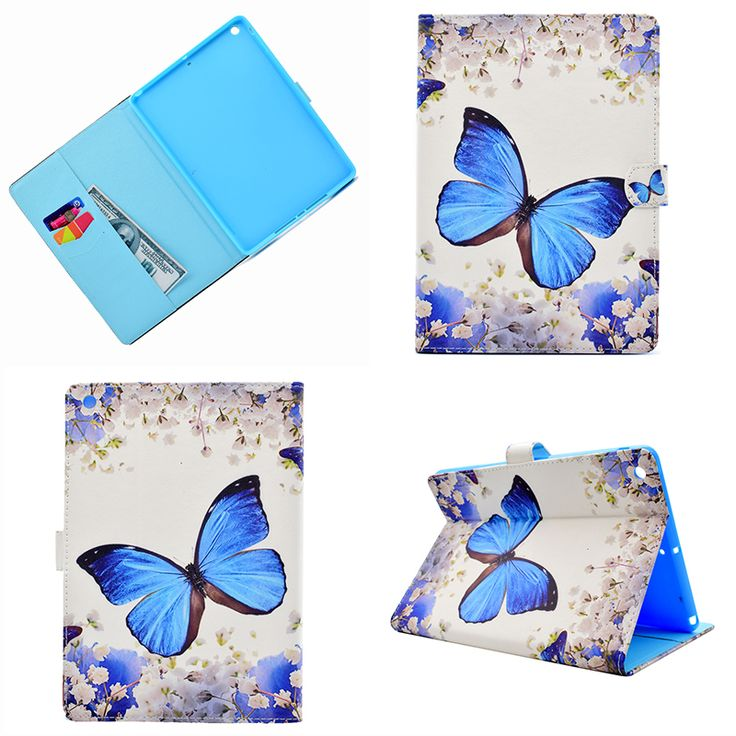 >> Click to Buy << Wolf butterfly panda fox deer flower PU leather cover for I pad 9.7 2017 tablet case coque kryty etui funda pouzdra tok puzdra #Affiliate