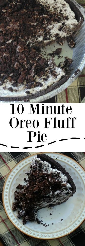 My 10 Minute Oreo Fluff Pie is probably one of the easiest recipes you will ever make. The title says it all. Now I have never actually timed myself making this pie but I am sure 10 minutes is pretty accurate. If you happen to make this pie and decide to time yourself let me know how long it takes! May even be less than 10 minutes.
