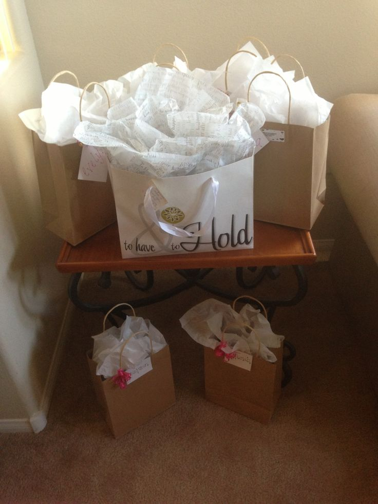 best bridal shower gifts for guests%0A Gifts gifts gifts and more gifts  The hostesses  me  and the gift bags